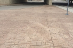 FM 548 and Hwy 80, Forney, TX Stamped Concrete