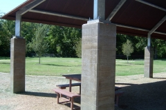 Hilcrest Park Dallas, TX Board Form Finished Columns
