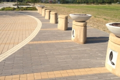 Lake Highlands Town Center Cast in Place Bollards