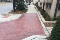 Lancaster Historic District, Lancaster, TX Stamped concrete and flatwork