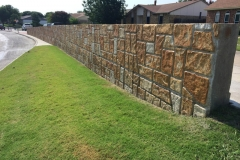 North Colony Blvd. The Colony, TX Integrally colored Formliner Concrete wall with accent acid staining